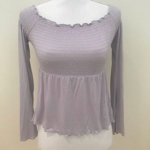 American eagle ruched bell sleeve boho top